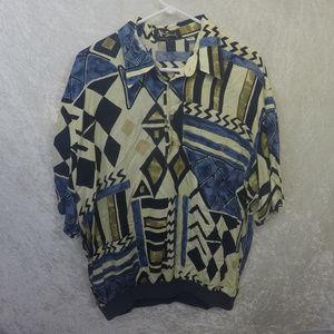 Other - Retro Alan Stuart Inca Style Baggy Shirt XL Mens